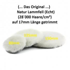 Lammfell (Echt/Natur) Polierpad 150mm (Das Original)