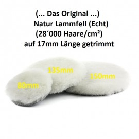 Lammfell (Echt/Natur) Polierpad 135mm (Das Original)