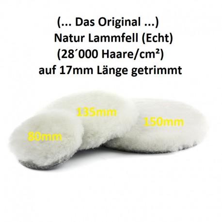 Lammfell (Echt/Natur) Polierpad 80mm (Das Original)