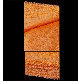 Microfasertuch Doubleface / ORANGE (40x40cm / Laserrand)