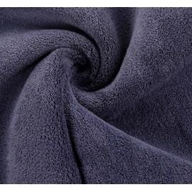 Microfasertuch PLUSH Deluxe -Antrazit- (40x40cm/Laserrand)